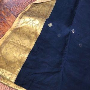 Dresses & Skirts - Black and gold cotton sari
